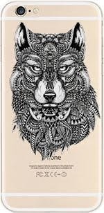DECO FAIRY iPhone 6 Fall, Schutzhülle Bumper [Kratzfest] [Passgenau] Ultra Slim Transluzent Silikon Clear Case Gel Cover für Apple iPhone 6, Wolf Feathers iPhone 6 Clear (Iphone 6 Fall Herr Der Ringe)