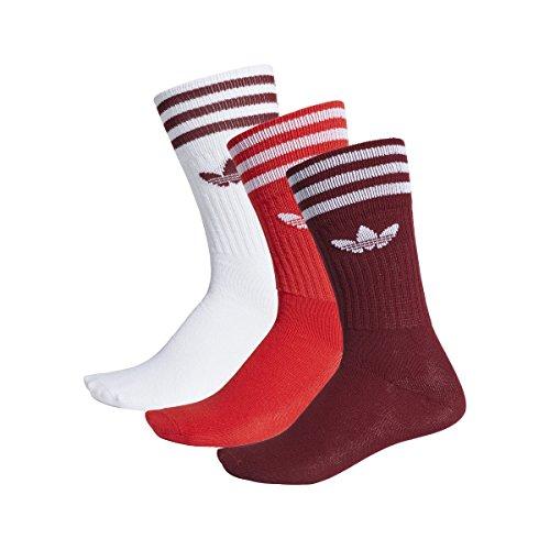 adidas Originals Socken Dreierpack SOLID CREW SOCK DW6829 Rot Weiß Mehrfarbig, Size:43/46