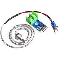 Heraihe MAX6675 Tipo E Termopar Sensor de Temperatura Termómetro Temp Módulo Kit Sonda de Placa para Arduino 0 ℃ -1024 DIY Electrónica DIY