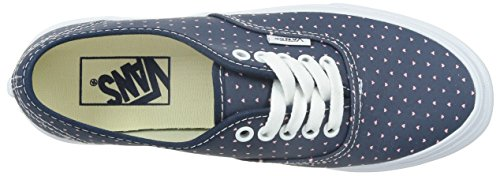 Vans AUTHENTIC SLIM, Damen Sneakers Blau ((Micro Hearts) dress blues/true white)
