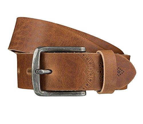 LLOYD Men's Belts Gürtel Herrengürtel Ledergürtel Beige 4026, Farbe:Braun, Länge:90