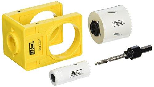 Ivy Classic 27001Bi-Metall Lock Installation Kit mit Guide Vorlage für Stahl und Holz Türen, kardiert