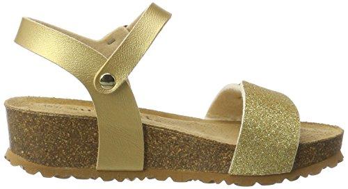 Superfit Mädchen Fussbettpantoffel Sandalen Gold (Gold)