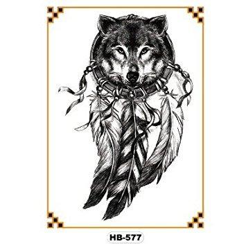 oottati-old-school-arm-temporare-tattoo-schwarz-traumfanger-wolf-feathers-skizze-set-mit-2