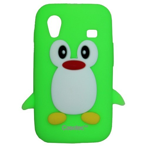 Casotec Penguin Silicone Jelly Back Case Cover for Samsung Galaxy Ace S5830 - Green  available at amazon for Rs.125