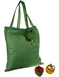 DII Bugs And Lady Reusable Grocery Bags, Set Of 3