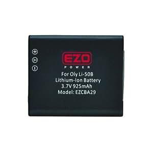 EZOPower Li-50B Li50B 925mAh Batterie Lithium-Ion Pour Olympus appareil photo numérique SZ-31MR iHS, TG-820 iHS, SZ-12, VR-350, SP-810UZ, SZ-11, SZ-20, SZ-30MR, TG-810, SZ-10, XZ-1, SP-800UZ, Stylus Tough 8010, Stylus Tough 6020, Stylus Tough 8000, Stylus Tough 6000, Stylus 1030 SW, Stylus 9000, Stylus 1010, Stylus 1020