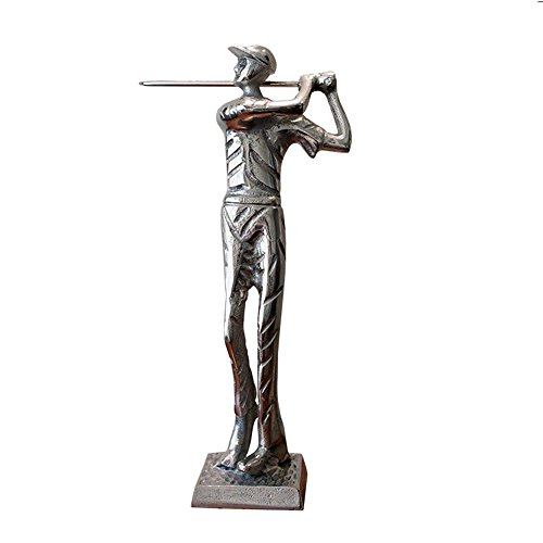 Sculpture Golfeur Statue En Aluminium Art Bureau Ornement Divertissement Décor Table Basse Bureau à Domicile SUNGL