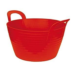Kerbl 323532 Flexibler Trog Flex Bag, circa 12 Liter, rot