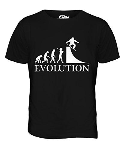 CandyMix Snowboarden Evolution Des Menschen Herren T Shirt Schwarz