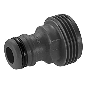 Gardena Accessory Adapter, Push-in Connector for The Original Gardena System Irrigation Devices with Female Threading, Fits 26.5 mm (G 3/4 Inch) Threads, Packaged (2921-20)