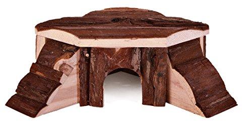R2075877 Holzhaus mit zwei treppen, 35 x 15 x 37 cm