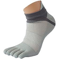 Ularma Moda 1 Par menmesh Meias Sports Corriendo Cinco Dedos Calcetines del Dedo del Pie (Tamaño Libre, Gris)