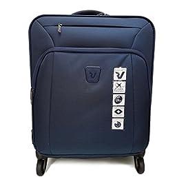 7c713ef93b Trolley cabina bagaglio a mano blu notte Roncato linea tribe light 2,10 kg  4 ruote apertura tsa