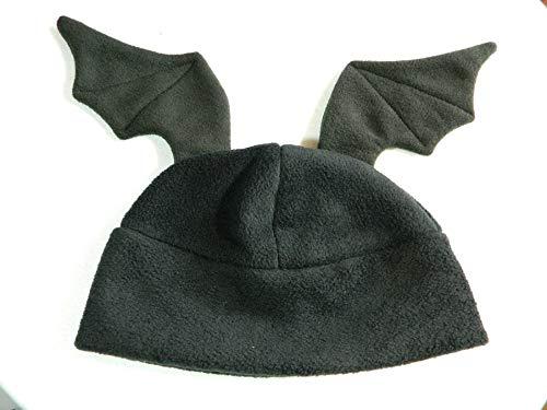 Fledermaus Flügel Mütze schwarz Gothic Punk - Buchmesse Kostüm