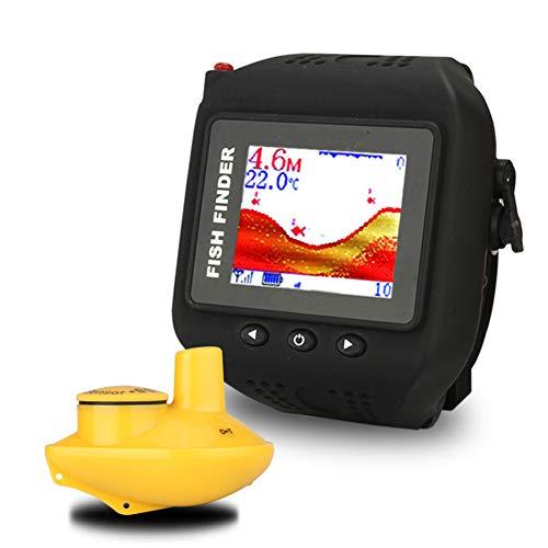 Lovewo orologio tipo di ricarica wireless fish detector 45 metri di profondità rilevatore hd impermeabile smart fishing gear 60 metri gamma di rilevazione orologio nero