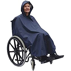 NRS Healthcare Silla de ruedas Ligero y Resistente Al Agua Poncho con capucha (de IVA en el Reino Unido)