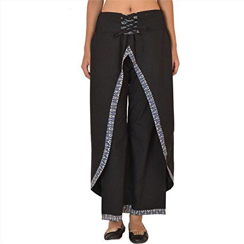 Skirts & Scarves Damen Schlafanzughose schwarz schwarz Schwarz