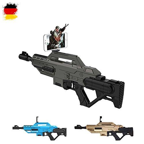 Gun Pistole, Maschinengewehr für interaktive Bluetooth Video Spiele mit dem Smartphone, Kompatibel mit Android und IOS, Neu OVP ()