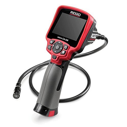 RIDGID 49628 micro CA-330 Hand-Inspektionskamera, Inspektionskamera, Boroskop, Endoskop, 17 mm Kamerakopf, Kamera mit Wi-Fi und Bluetooth
