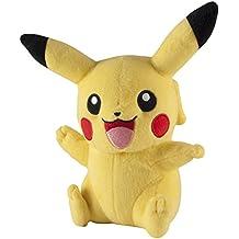 Pokemon t18896–Tomy Pikachu, mezcla de Pokémon plástico de peluche 20cm para jugar y coleccionar.