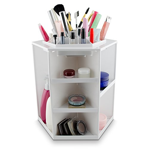 venkon-cosmetics-make-up-organizer-box-for-storage-rotatable-360-white