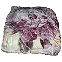 Signature's Double Layered Blankets for Extra Warmth, Multi-Colored (King Size), Double Bed