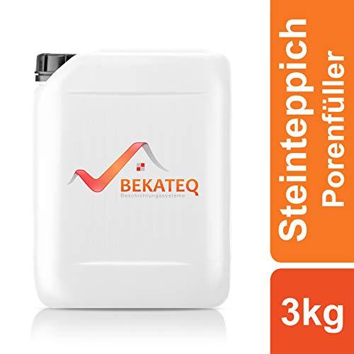 BEKATEQ BK-640EP Steinteppich Porenfüller, 3kg farblos, 2K Epoxidharz Porenverschluss Steinboden Schutz