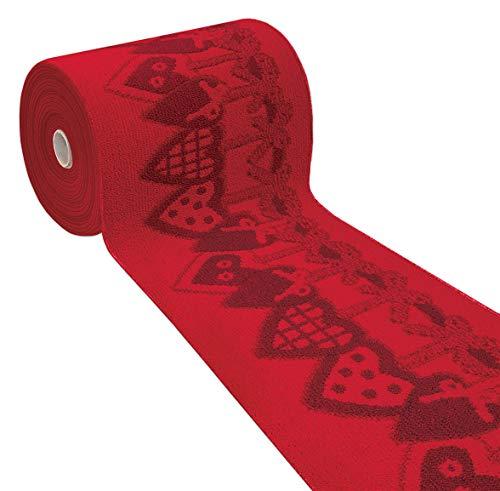 Arrediamoinsieme-nelweb tappeto cucina natale cuori rosso passatoia corsia multiuso bordata retro antiscivolo in 7 misure 100% made in italy mod.natalia (50x240cm)