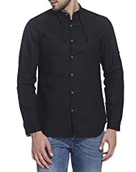 Jack & Jones Mens Casual Shirt (5713610263271_12125650Black_XX-Large)