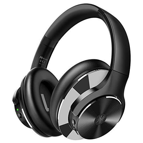 OneOdio Active Noise Cancelling Kopfhörer (ANC), 40 Stunden Kabellos Bluetooth Over Ear Kopfhörer, Tiefer Bass CVC 6.0 Mikrofon Schnellladung Protein-Ohrpolster faltbar für Reise Büro TV Handy PC