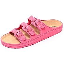 Damen Bio Clogs Tieffußbett Pantolette Sandale Slipper Schuhe KORALLE ROT Gr. 37-40