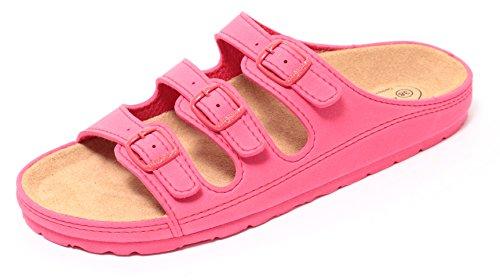 Zapato Damen Bio Clogs Tieffußbett Pantolette Sandale Slipper Schuhe Koralle Rot Gr. 37-40 (38)