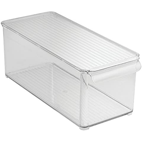 InterDesign Kitchen/Pantry/Frigorífico/congelador, Contenedor de almacenamiento, transparente, 15,25x 15,25x