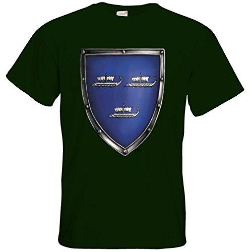 getshirts - Das Schwarze Auge - T-Shirt - Die Siebenwindküste - Wappen - Harben Bottle Green