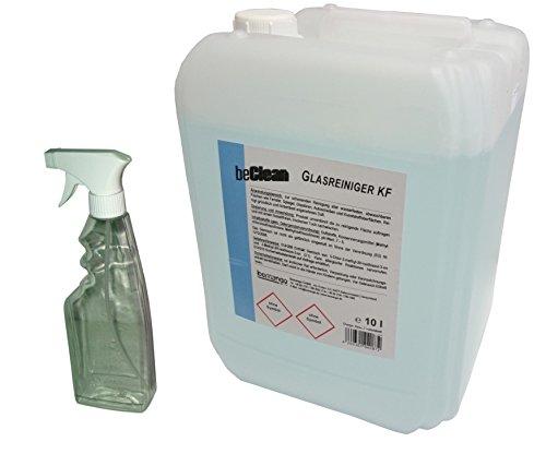 Glasreiniger beClean clear 10l Kanister mit einer Sprühflasche