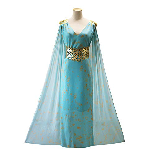 ZQ Cosplay Damen Kleid Dragon Queen Cosplay Chiffon Ballkleider Cape Cloak - Dragon Queen Kostüm