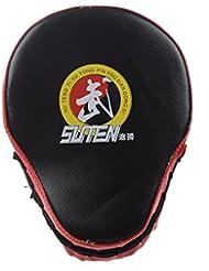 SUTEN PU Boxeo Mitt Formacion Objetivo Focos Cojin del sacador Guante Sanda Kick MMA Taekwondo Negro