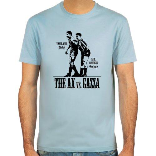 SpielRaum T-Shirt Paul Gascoigne vs. Vinnie Jones ::: Farbauswahl: skyblue, sand, weiß oder deepred ::: Größen: S-XXL ::: Fußball-Kult Sand