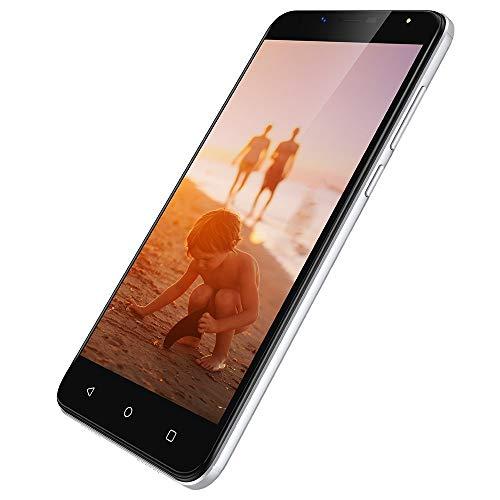 Wieppo S6 Lite Smartphone Günstig Ohne Vertrag 3G - 5,5 Zoll Handy Android 7.0, 1GB+8GB, 8MP+5MP Kamera, HD 1280 * 720 Bildschirm, Dual SIM Phone GPS OTG WiFi Akku 2970mAh (Silber, XL) 8 Gb Handy