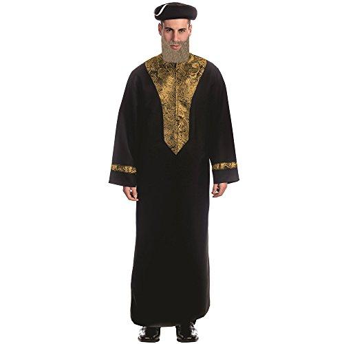 Dress Up America Erwachsenes sephardisches Chacham Rabbi-Kostüm