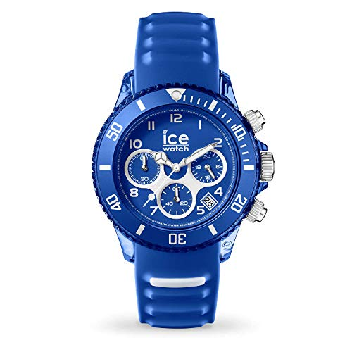 Ice-Watch - ICE aqua Marine - Montre bleue mixte avec bracelet en silicone - Chrono - 001459 (Medium)