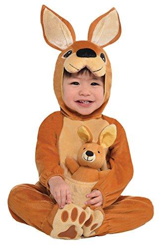 Baby Känguru Joey Kostüm JUMPIN Overall Plüschspielzeug Dschungel Babys kleinkinder Tier Kostüm Outfit Zoo Party Haustiere Wüste - Jumpin' Joey, 0-6 Monate