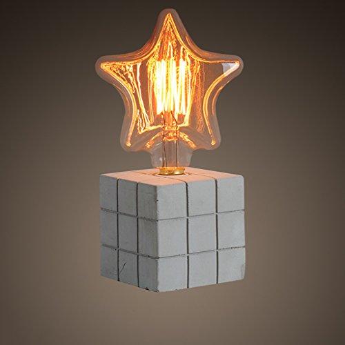 Vintage Bar Bar Lampe de table American Creative Cafe Restaurant Lampe de table Lampe de béton Lampe de table à ciment