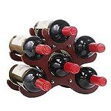 Wein RackWoody Kreative Weinregal Woody Ornaments Weinregal Haushalt Einfache Flasche Weinregal