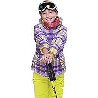 Gski Chica Chaqueta Y Pantalones De Esquí Resistente Al Viento, Templado, Ventilación Esquí/Deportes Múltiples/Deportes De Nieve Poliéster, Prendas Ropa De Esquí,Invierno,98