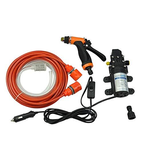 ONEVER Pompe de lave-auto haute pression pompe de lavage 130PSI auto-amorçante électrique DC 12V 80W kit de rondelle de nettoyage de voiture