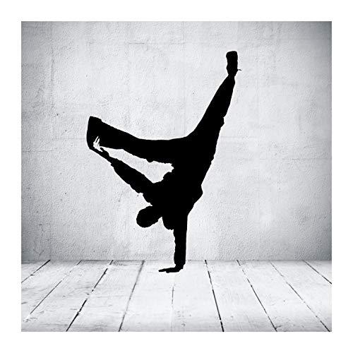 """das-label Wandtattoo Tanzen """"streetdance 14"""" in 4 Größen Hip Hop Breakdance Kinderzimmer Tattoo, Indoor schwarz, Größe L"""