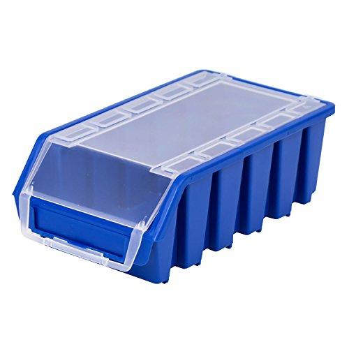 Stapelbox Stapelkiste Sortierbox Ergobox mit Deckel Gr. 2L blauLager