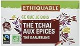 Ethiquable Thé Tchaïa aux Épices Darjeeling Bio et Équitable 20 Sachets Max Havelaar - Lot de 4